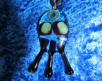 fused glass octopus