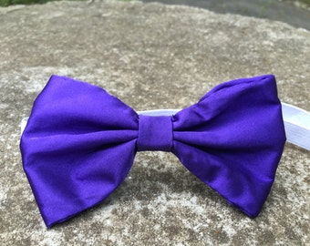 Purple Satin Bowtie