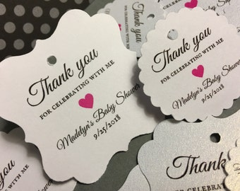 Wedding favor tags, prrdonalized favor tags, baby shower, bridal shower