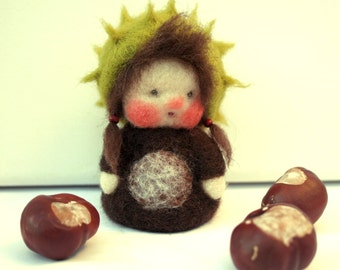 Flower child chestnut. Seasonal decor
