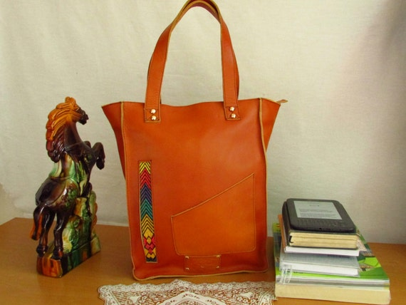 women shopping bag, large shopping bag, oversize shopping bag, zipper lock shopping bag, oversize bag, brown leather bag