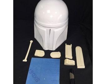 Boba jango helmet star wars kit gold