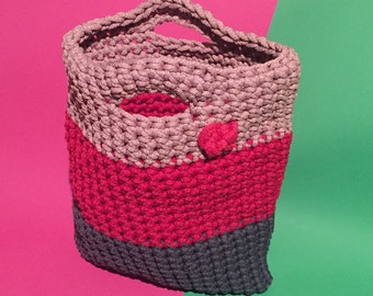 Crochet hand made with love bag