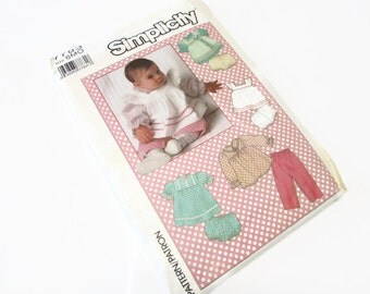 Simplicity Baby Girl Clothing Pattern 6 months 7783