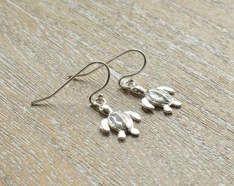 Sterling Silver Turtle Earrings