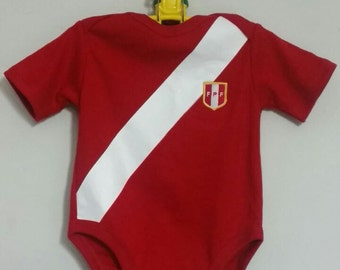 Peruvian soccer team bodysuit red