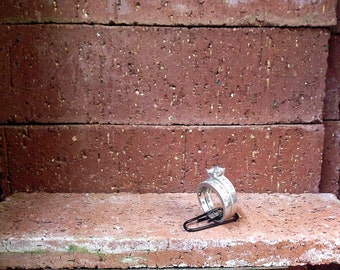 sterling silver weding ring set