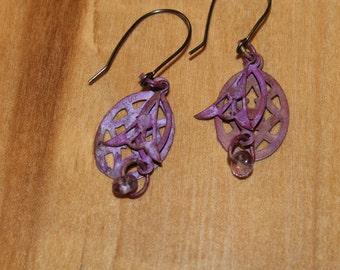 Funky and very purple earrings