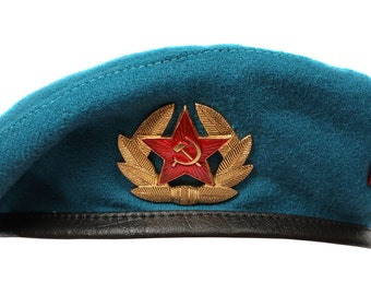 Russian blue Beret hat Airborne Troops for Paratrooper