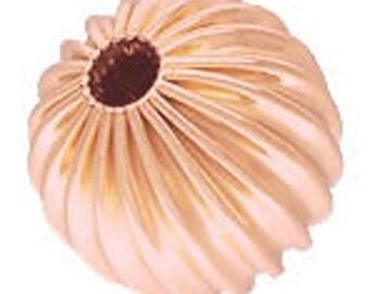 Rose Gold Filled Corrugated Beads 14/20kt.- 10 pcs (Choose Size)