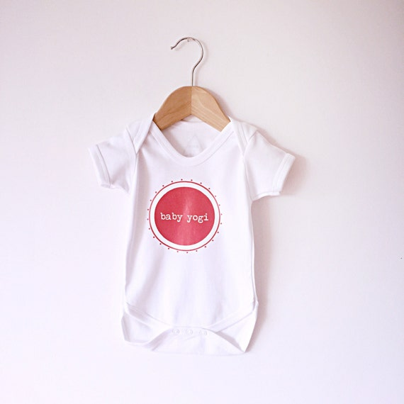 Baby Gifts Yoga : Yoga baby coral yogi  cotton bodysuit
