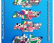 Chevy Bowtie Decals Custom Handmade 4PC Set Graffiti Logo Emblem  3M Adhesive High Quality Universal Decals Windows Doors Pillar