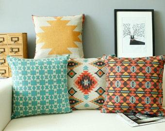 Sale - Native American Geometric Set Decorative Pillow Case
