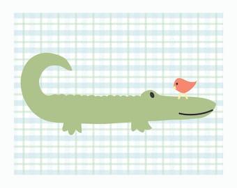Crocodile Nursery Print