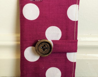 Purple Polka-dot Cell Phone Case for Iphone 5/5s