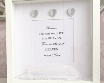 Personalised Heaven Frame, Heaven frame, personalised gift