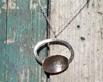 Handmade stirling silver pendant