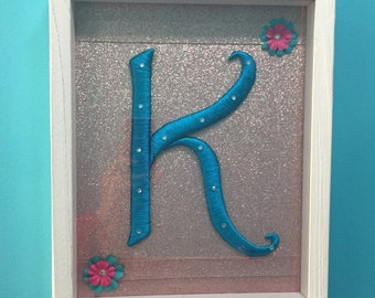 """Name Initial Wall Decor """"K"""""""