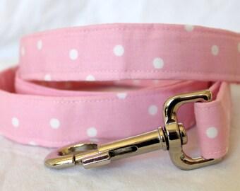 Pretty Pink Polka Dot Dog Leash