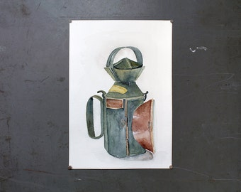 watercolor original painting | signal lamp 1