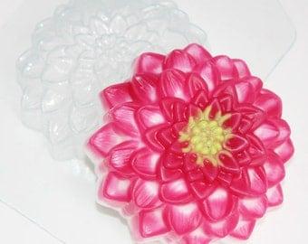 Dahlia plastic mold, dahlia mold, dahlia soap, dahlia plaster mold, dahlia bath bomb, floret mold, blossom mold, bloom mold, blossom soap