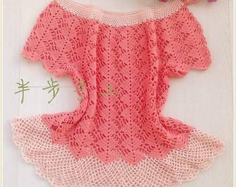 Blouse from crochet and cottonyarns