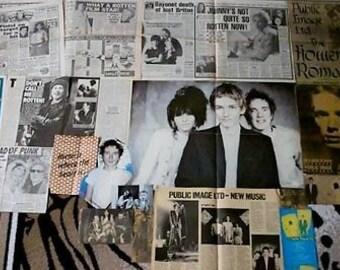 P.I.L. - Johnny Rotten -/ John Lydon - Ultra Rare Original Clippings