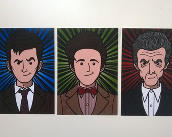The Three Doctors A5 3 - Pack