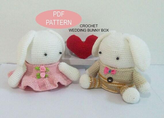 Crochet Wedding Bunny Box PDF Pattern Patternstutorials Diy Gift From NittaCrafts On Etsy Studio