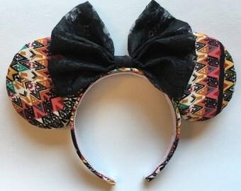 Aztec, Mosaic, Western, Animal Kingdom Mouse Ears