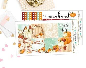 Hello Fall Planner sticker kit/ Horizontal Stickers/ Stickers/ Planner stickers /EC