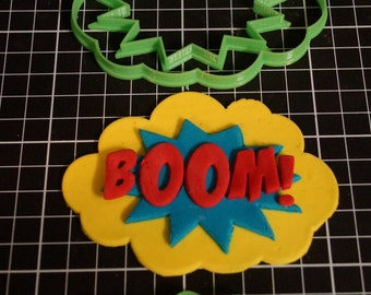 Comic Book Batman Words Boom Pow Pop Zap Bam! Cookie Cutter Fondant Cutter Cake Decorating