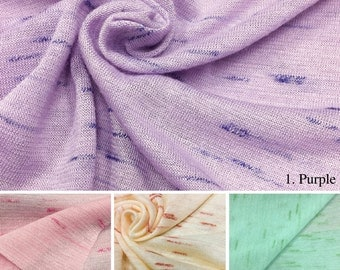 Slub Jersey Knit Fabric (Wholesale Price Available By the Bolt) - USA Made Premium Quality - 2428PR - 1 Yard