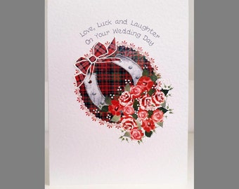 Special Wishes Large Wedding Horseshoe Red Card SW WE14