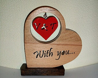Gift of love-Weddings-Valentines day-Heart-Valentines day gift-Personal present for women and men-Home decor