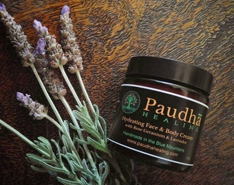 Face and Body Cream with Rose Geranium and Lavender