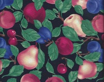 Peaches,Pears, Plums, Cherries, Summer Harvest,Northcott fabrics