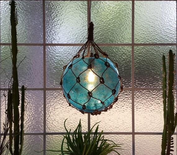Nautical Decor Pendant Lighting: Nautical Light Pendant Aqua Pendant Blue Tiki Fishermans