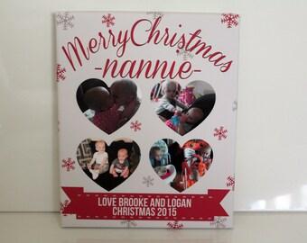 Personalised christmas gift nanny nannie grandparent present nan keepsake picture print