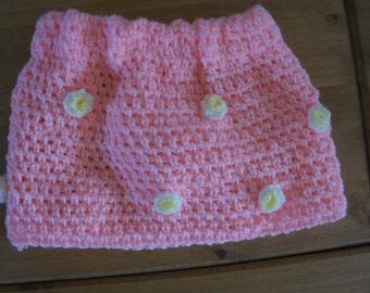 Crochet baby mini skirt