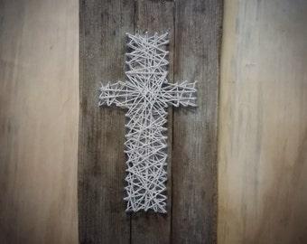SOLD- Special order-Cross String Art