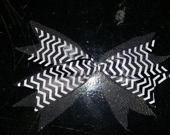 tulle and chevron spike bow