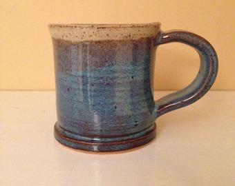 Small Light Blue/Cream Mug