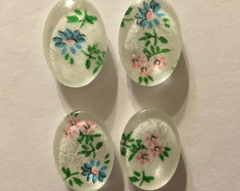 Set of Four Pink and Blue Magnets