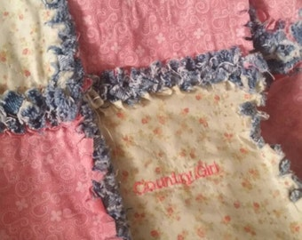 Baby Quilt - Baby Blanket -Country Girl