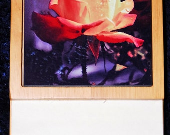 Red Rose post it note pad holder