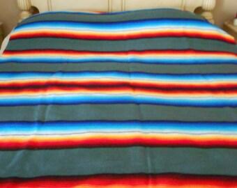 Mid - Century Serape Wool Blanket