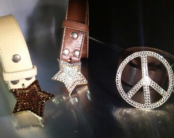 Belt buckles With Swarovski crystals