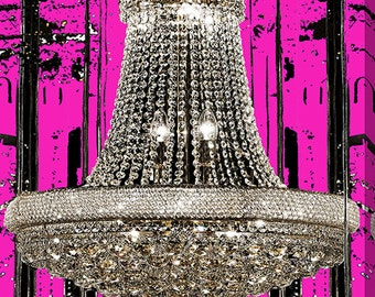 Chandelier Stretched Canvas - Fashion Art - BY Jody