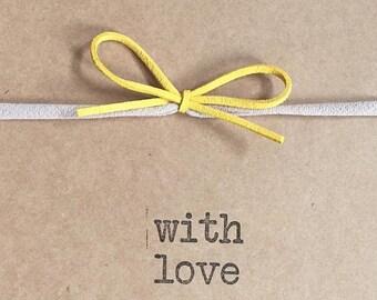 mustard yellow hair bow